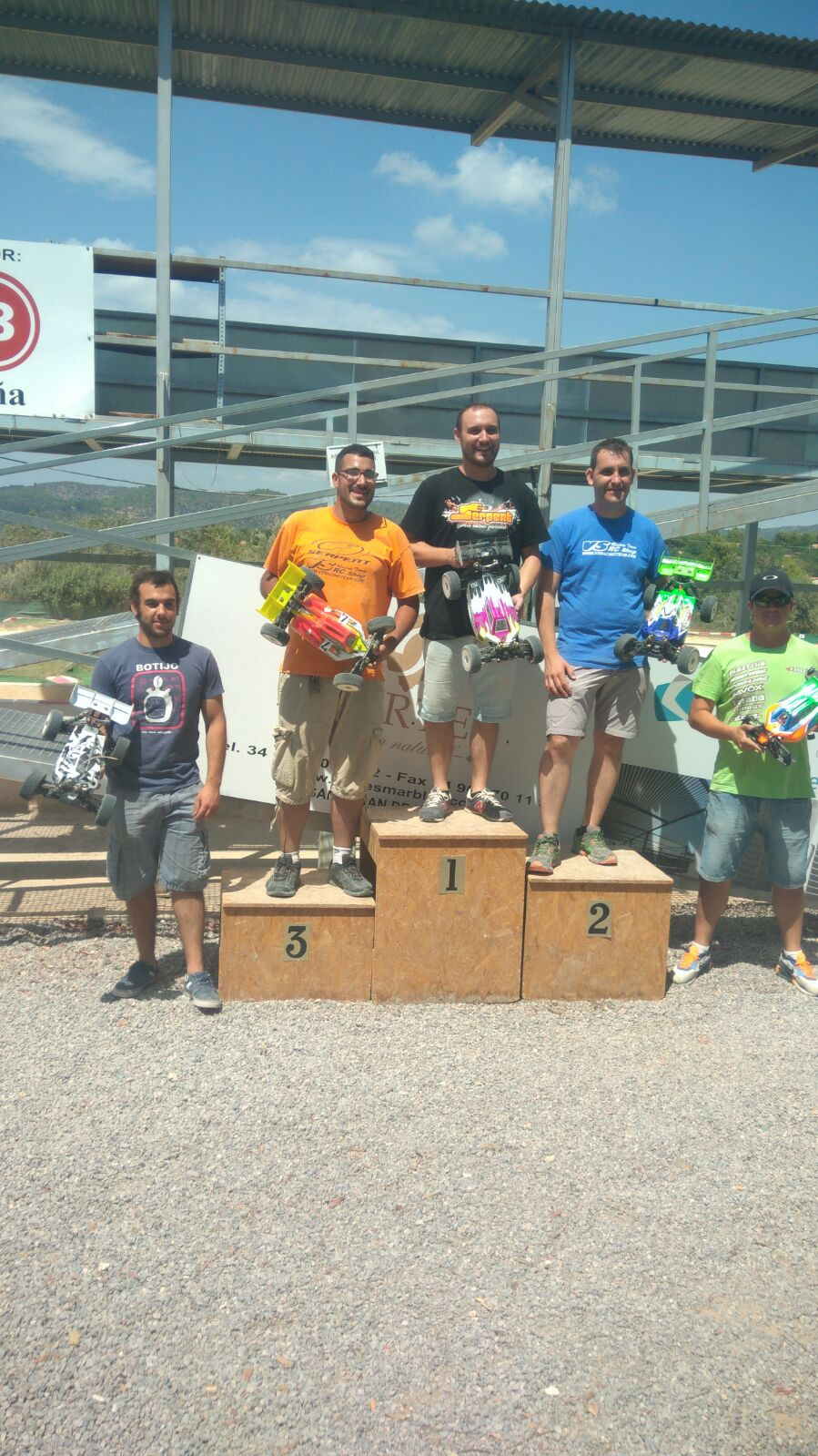 Podio Copa Serpent 30/07/2017