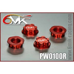 OPTIMA Red 1/8 Wheel nuts (4)